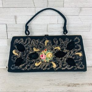 Vintage Caron of Houston Beaded/Embroidered Clutch
